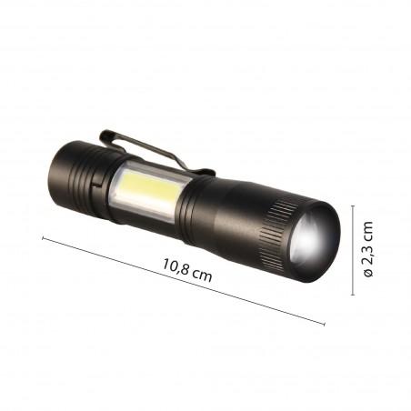 Torcia Led + Lanterna led con zoom thor D89 Torce LED Velamp