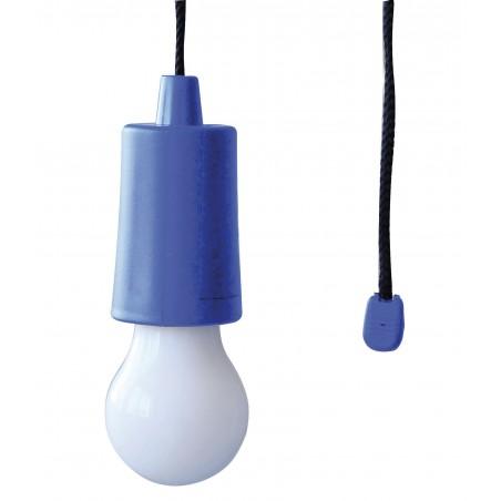 RETRO' : Ampoule LED à piles avec cordon. Bleu IL84-B Lumières pour armoires placards Velamp