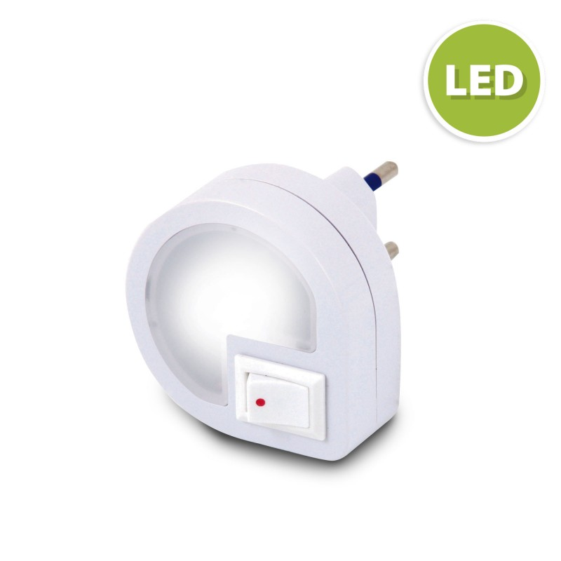 Punto luce led con interruttore on/off dropled IL35.012L Luci notturne Velamp