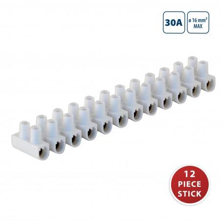 Bloque de terminales de PP, TBS-30A-16mm2 - Barra de 12 - Shrink de 10 barras MG330 Velamp Morsetti per collegamenti (mammut)