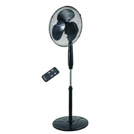 ZEFIRO: 40cm pedestal fan with remote control. black VENT-P40RC Velamp Pedestal fans
