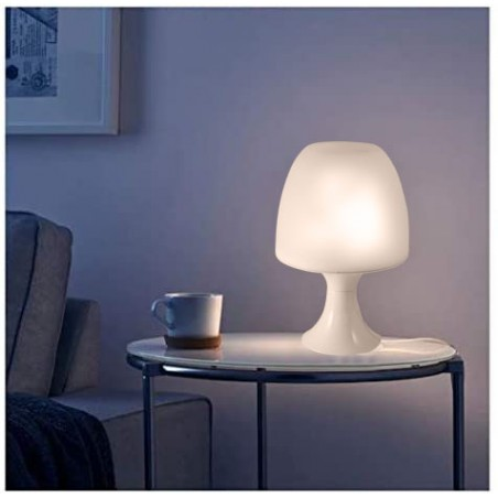 MUSHROOM: Lampada da tavolo bianca con attacco E14 TL1010-B Lampade decorative Velamp