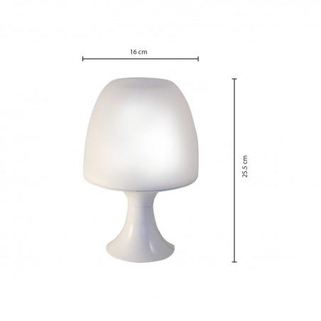 SETA: Lámpara de mesa blanca con casquillo E14 TL1010-B Velamp Lámparas decorativas