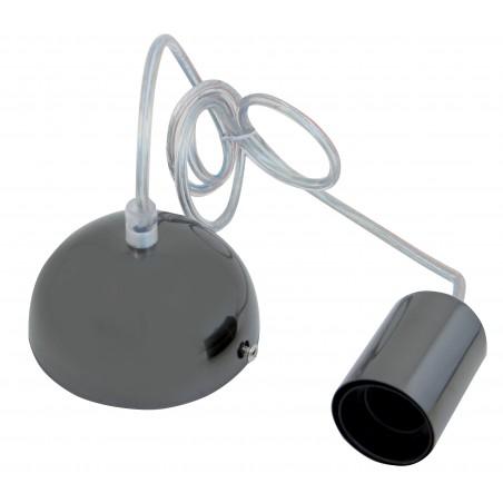 Sospensione per lampadine e27 cavo 90 cm in metallo grigio scuro PS090-DARKGREY Sospensioni Velamp