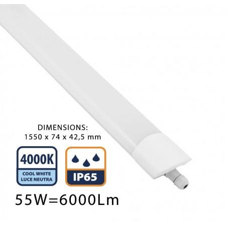 STARLED: Réglette étanche IP65 à LED intégrées, 150 CM 6000LM STARLED258 Réglettes IP65 Velamp