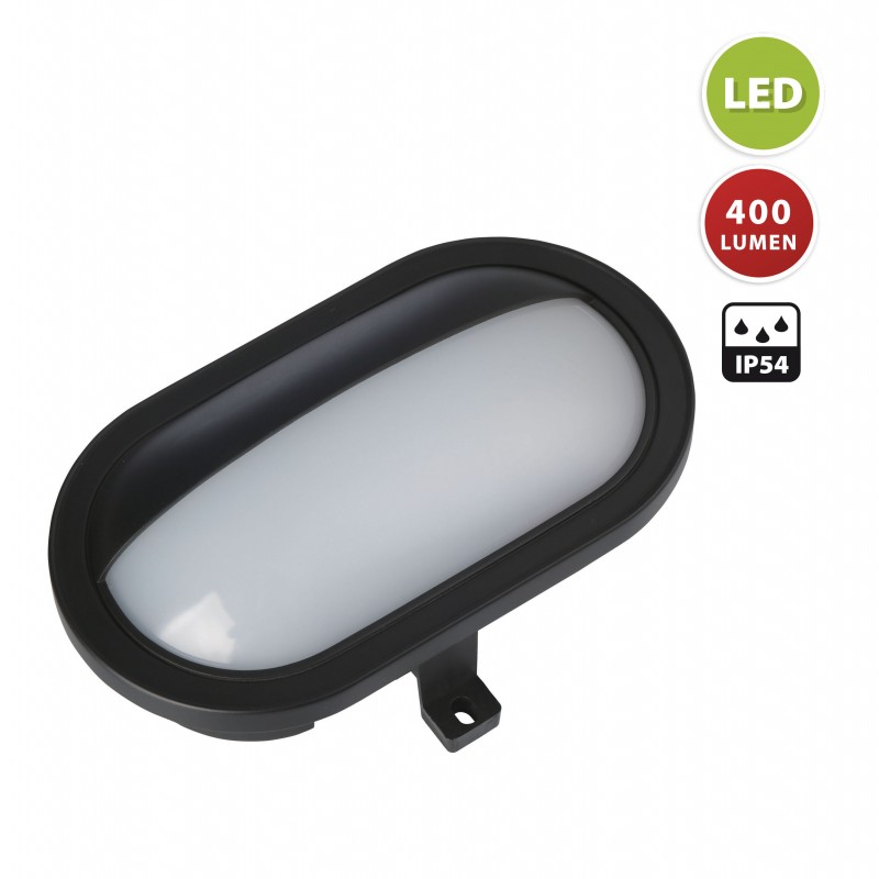 Applique led integrati 5.5w da esterno palpebra nero PALPEBRA-N Applique ovali Velamp