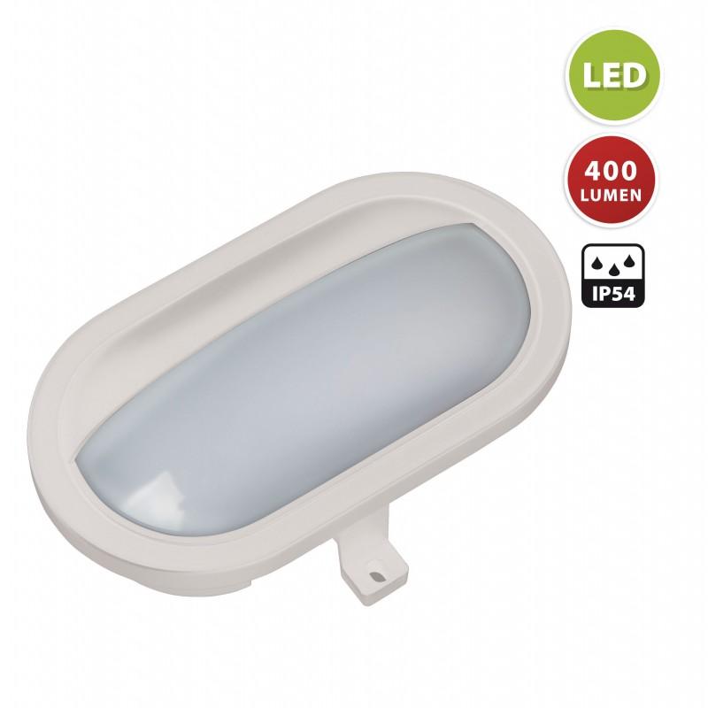 PALPEBRA: aplique LED integrado 5.5W blanco. Para exterior PALPEBRA-B Velamp Apliques ovalados