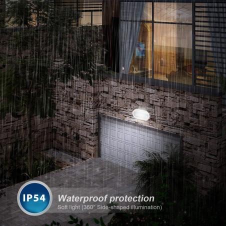 PALPEBRA: applique LED integrati 5.5W bianca. Da esterno PALPEBRA-B Applique ovali Velamp