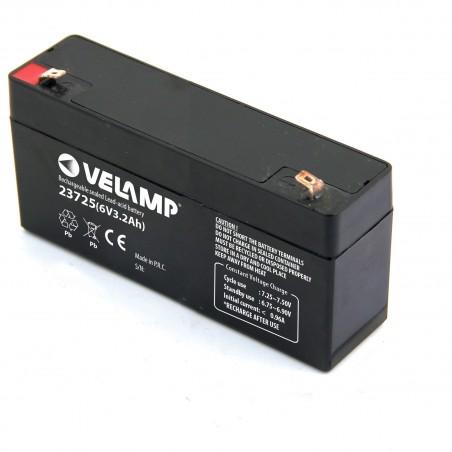 Batteria Ricaricabile Piombo, Attacchi Faston, 6V 2.5Ah 23725 Batterie ricaricabili al piombo 6v Velamp
