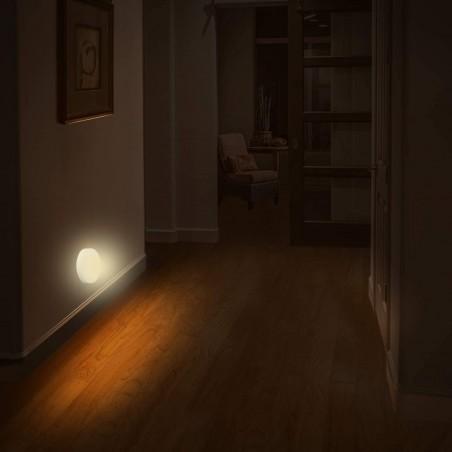 """TOUCH-LED: LED-Lichtpunkt mit EIN / AUS-Schalter """"TOUCH"""". Weiß IL28 Nachtlampen Velamp"""