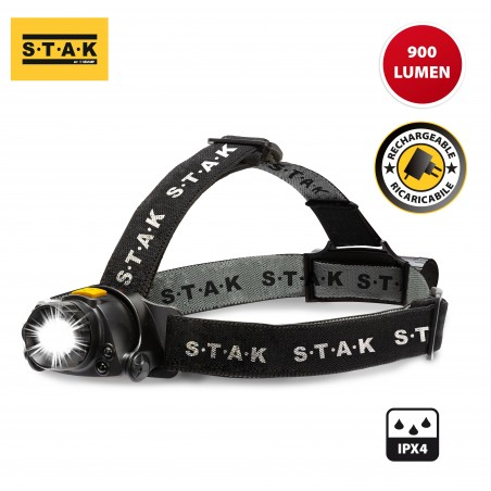 KAIZER: 10W 900 lumen rechargeable head lamp, with zoom ST201 Stak Heavy duty worklights