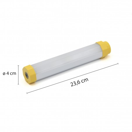 LUMIBAR: luce da lavoro tubolare 300lm + torcia + powerbank. Ricaricabile ST177 Torce LED Stak