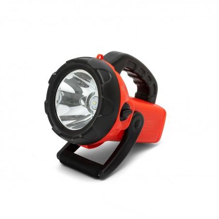 CHURCHILL: Faro LED ricaricabile 10W con lampeggiante rosso IR561 Illuminazione da lavoro Velamp