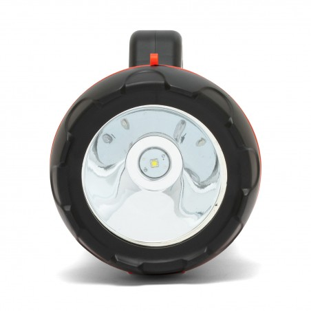 CHURCHILL: 10W wiederaufladbarer LED-Scheinwerfer mit rotem Blinklicht IR561 Arbeitsleuchten (Punktstrahler) Velamp