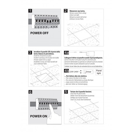 ICEBERG: Panel LED con retroiluminación 60x60, 3800 lúmenes, 3000K. Blanco PANLED05-3000K Velamp Iluminación de interior