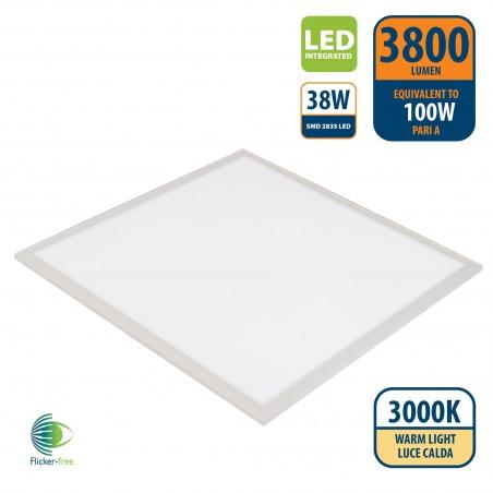 ICEBERG: Pannello LED 60x60 Backlight, 3800 lumen, 3000K. Bianco PANLED05-3000K Illuminazione da interno Velamp