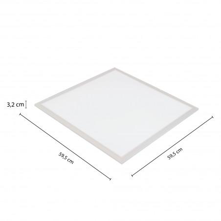 ICEBERG: 60x60 Backlight LED Panel, 3800 lumens, 4000K. White PANLED05-4000K Velamp LED panels