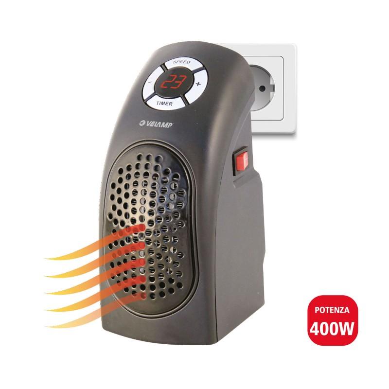 Mini 400W plug-in Heizlüfter mit Display PR014 Kleine Heizlu_fter für den Hausgebrauche Velamp