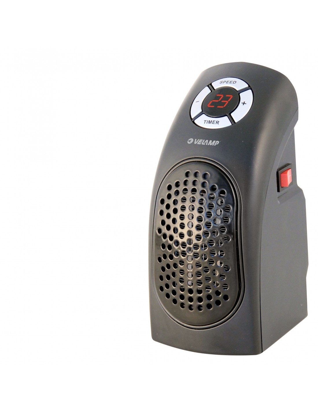 Mini 400W electrical plug-in fan heater. With display