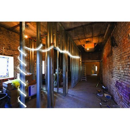 RibbON: IP65 LED-Streifen 25.000 Lumen. Mit Wickler. 25m ST904 360° Baustellenbeleuchtung Stak