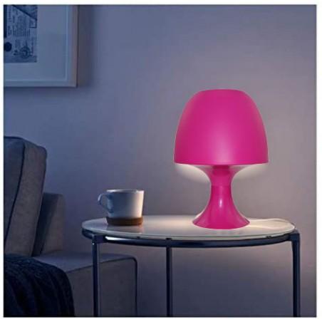 MUSHROOM: Lámpara de mesa rosa con casquillo E14 TL1011 Velamp Lámparas decorativas