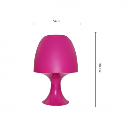 MUSHROOM: Pink table lamp with E14 fitting TL1011 Velamp Decorative lamps