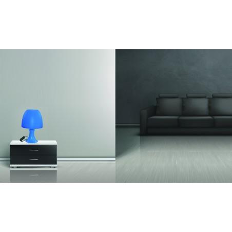 MUSHROOM: Lampada da tavolo blu con attacco E14 TL1012 Lampade decorative Velamp