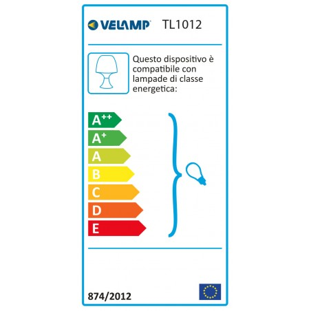 MUSHROOM: Lampe de table bleue avec douille E14 TL1012 Lampes décoratives Velamp