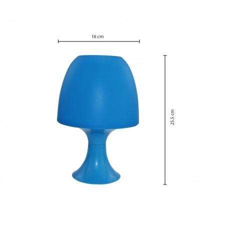MUSHROOM: Lámpara de mesa azul con casquillo E14 TL1012 Velamp Lámparas decorativas