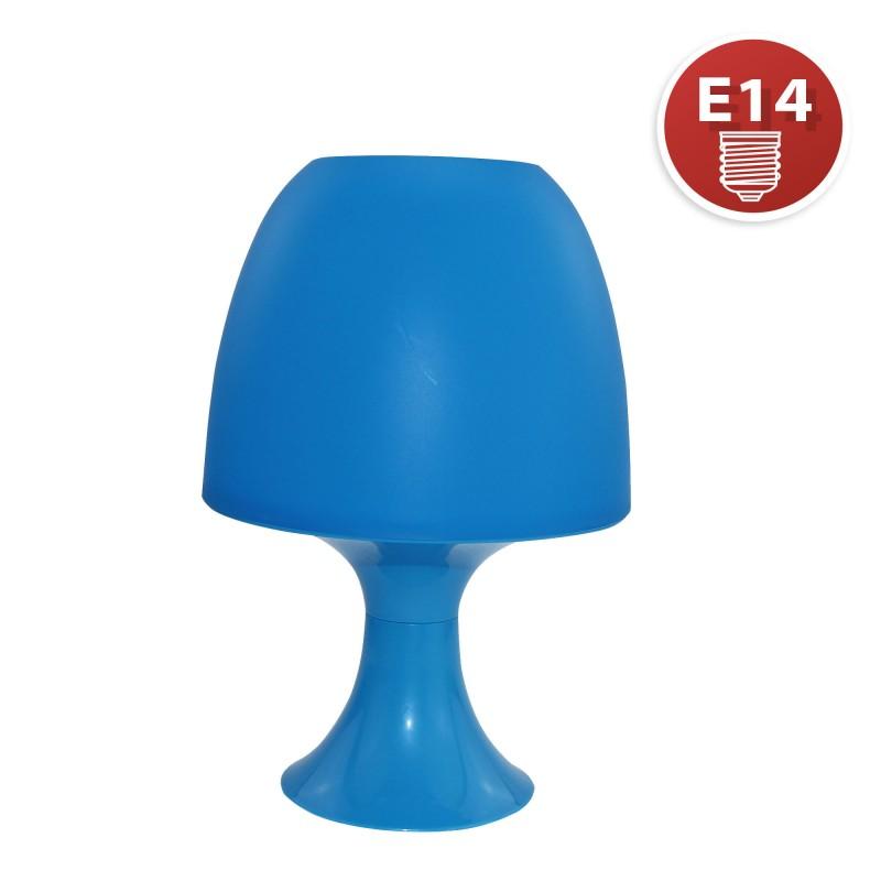 MUSHROOM: Blaue Tischlampe mit E14-Fassung TL1012 Dekorative Lampen Velamp