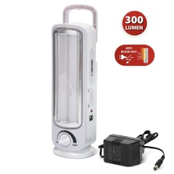 TWIX: Anti-Power-Cut-Lampe, 2 LED-Röhren: 300lm. Mit Dimmer und Transformator. 23cm IR162 Notbeleuchtung mobil Velamp