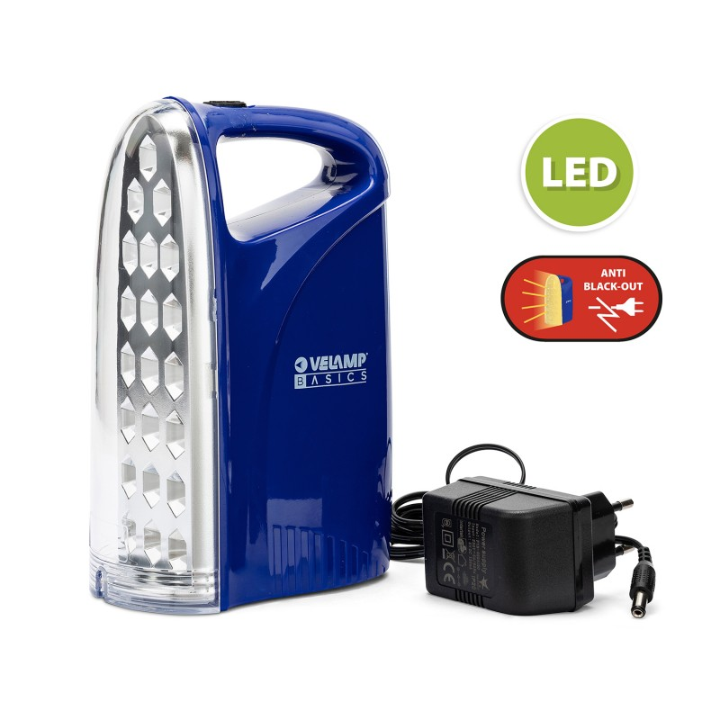 Lampada emergenza portatile ricaricabile led 250 lm iron light IR312 Luci di emergenza portatili Velamp