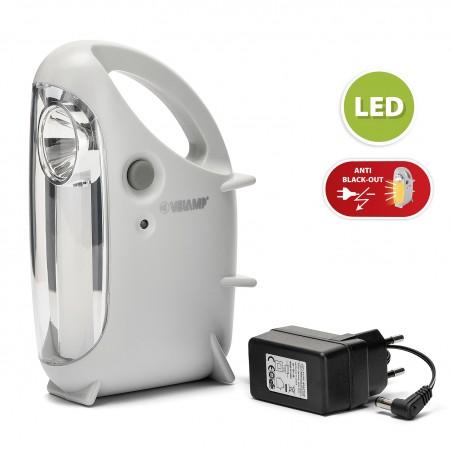 MINI OVIDEA:rechargeable anti black-out lantern: LED tube + spotlight IR170EVO Velamp Portable emergency lamps