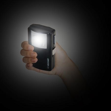 Torcia led astuccio metallico led per 1 pila 3r12 ID72LED Torce LED Velamp