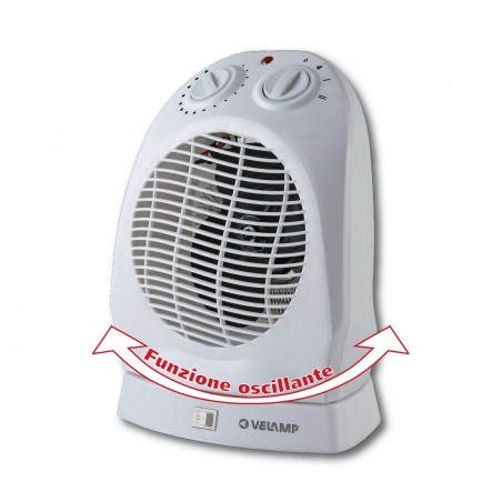 Electrical fan heater 2kW with automatic rotation. White PR012-2 Velamp Domestic fan heaters
