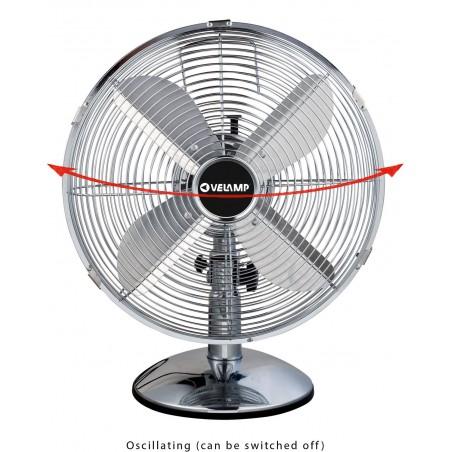 BORA3: table fan 30 cm, in chromed metal VENT-M30T3 Velamp Desk fans