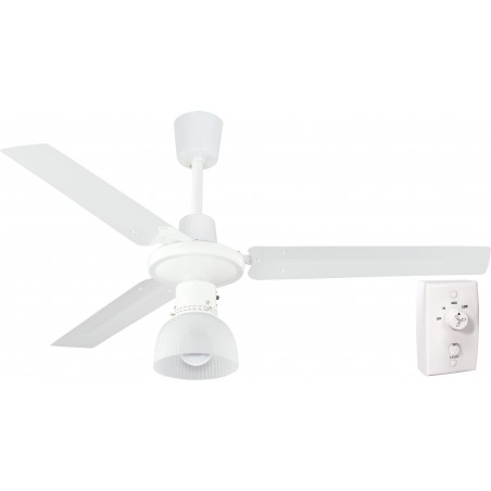 IRMA3: ceiling fan with bulb socket and wall control, 120cm VENT-CEL32 Velamp Ceiling fans