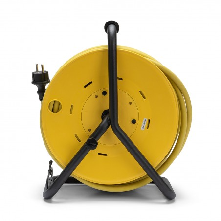 Enrouleur PRO, 4 prises, H07RN-F 3G2.5, 25M, NF, CE, IP44. Platine fixe REELPRO-FR-25 Velamp France, Belgium, Poland cable reels