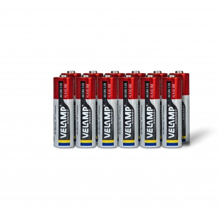 Alkaline battery, LR6 AA, 1.5V - Multipack of 12 LR6/12PACK Velamp Alkaline