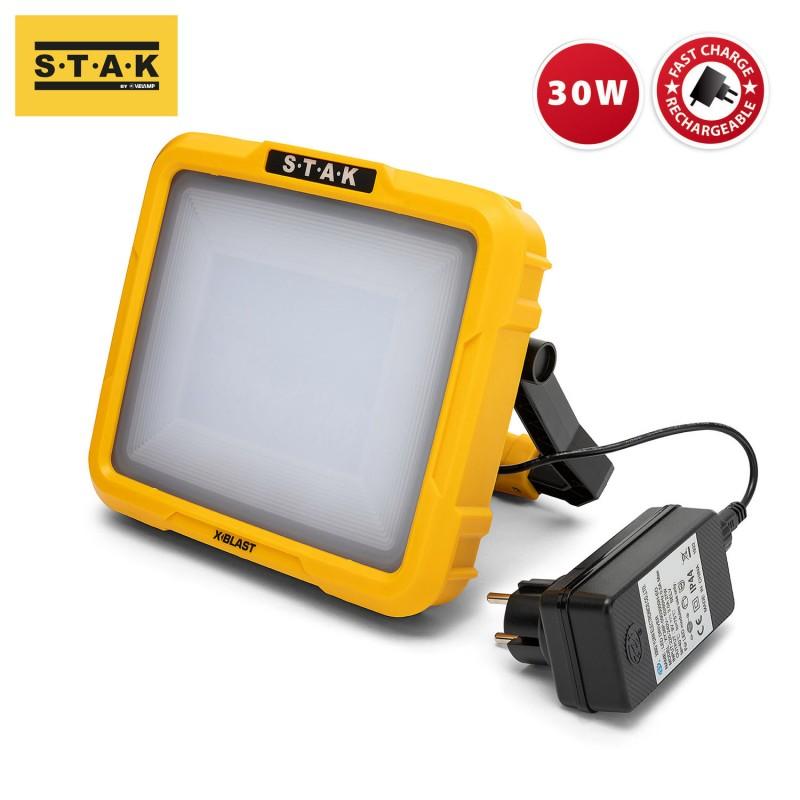 X-Blast 30W: LED zone light recargable 2400 lm ST223 Velamp Proyectores de trabajo recargables para profesionales