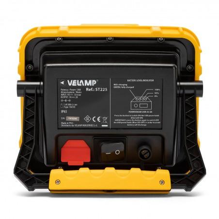X-Blast 50W: Projecteur de chantier rechargeable 3600 lumen, IP65, autonomie 3h ST225 Projecteurs rechargeables pour professi...