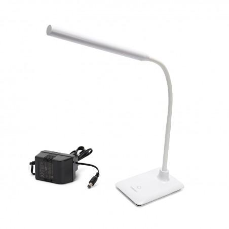 """SLIM: Lampada da scrivania LED 6W, bianca. Interruttore """"touch"""" TL1606B.004S Lampade da scrivania Velamp"""