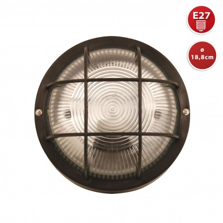 Round glass ceiling lamp. E27 max. 60W. Black BUBBLE-N Velamp Ceiling lamps