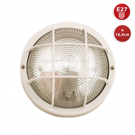 Round glass ceiling lamp. E27 max. 60W. White BUBBLE-B Velamp Ceiling lamps
