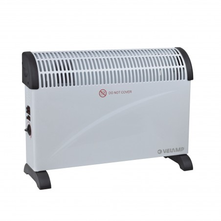 2 KW convector with TURBO function. White PR206T Velamp Domestic fan heaters