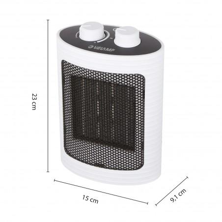 Generatore di aria calda PTC 1500W. Bianco PR152 Riscaldamento Velamp