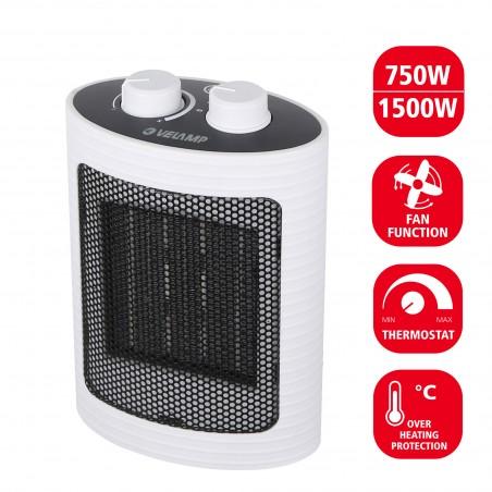 1500W PTC Heißluftgenerator. Weiß PR152 Kleine Heizlu_fter für den Hausgebrauche Velamp
