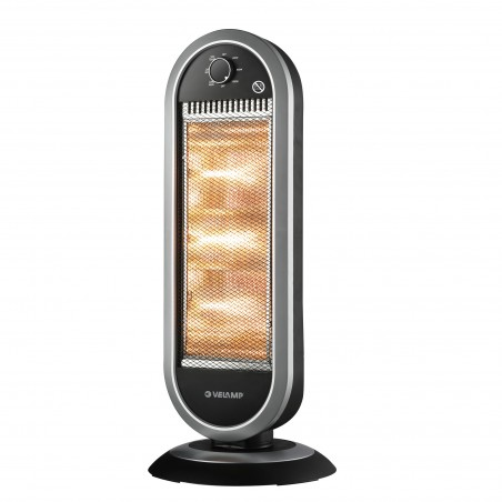 Radiant panel with 3 halogen elements. Oscillating. Black PR162 Velamp Domestic fan heaters