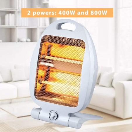 Stufa elettrica al Quarzo 800W. Grigio PR170 Riscaldamento Velamp