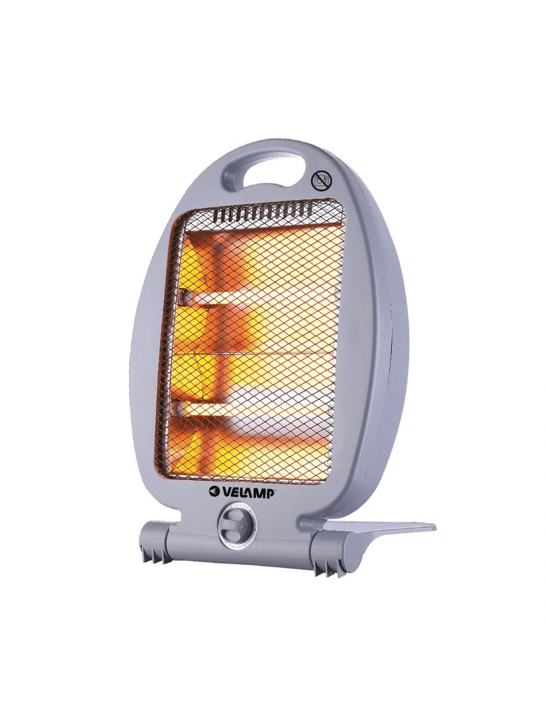 Radiant Quartz heater, 800W, with safety switch, Grey
